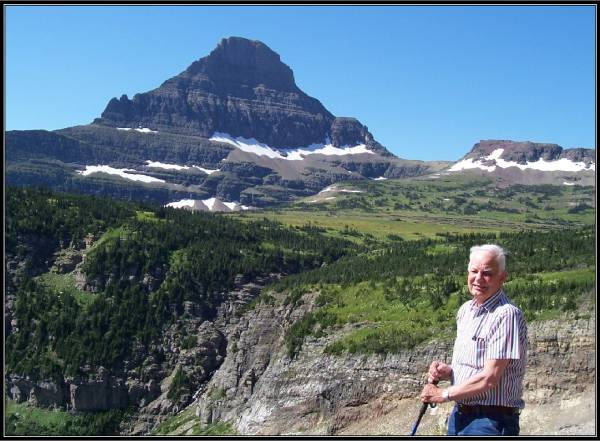 Vic Cohrs in Glacier Park 2005